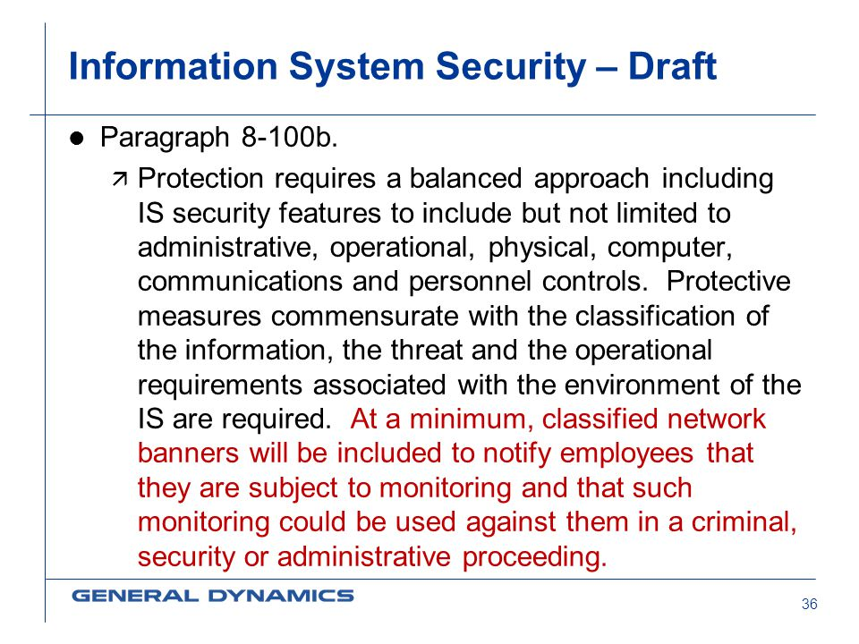 Information System Security – Draft