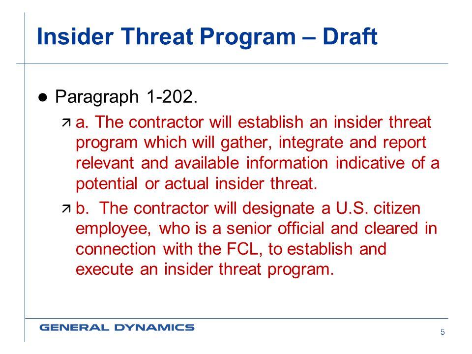 Insider Threat Program – Draft