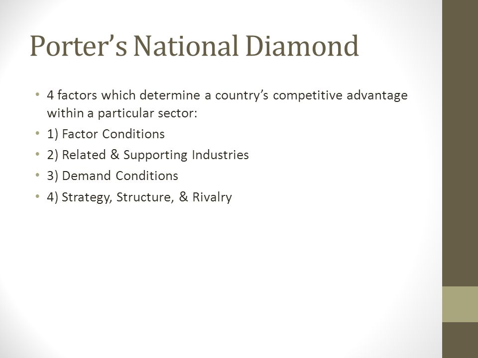 Porter's National Diamond