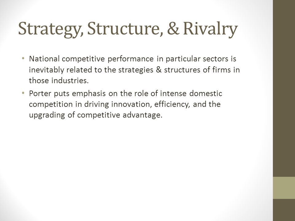 Strategy, Structure, & Rivalry