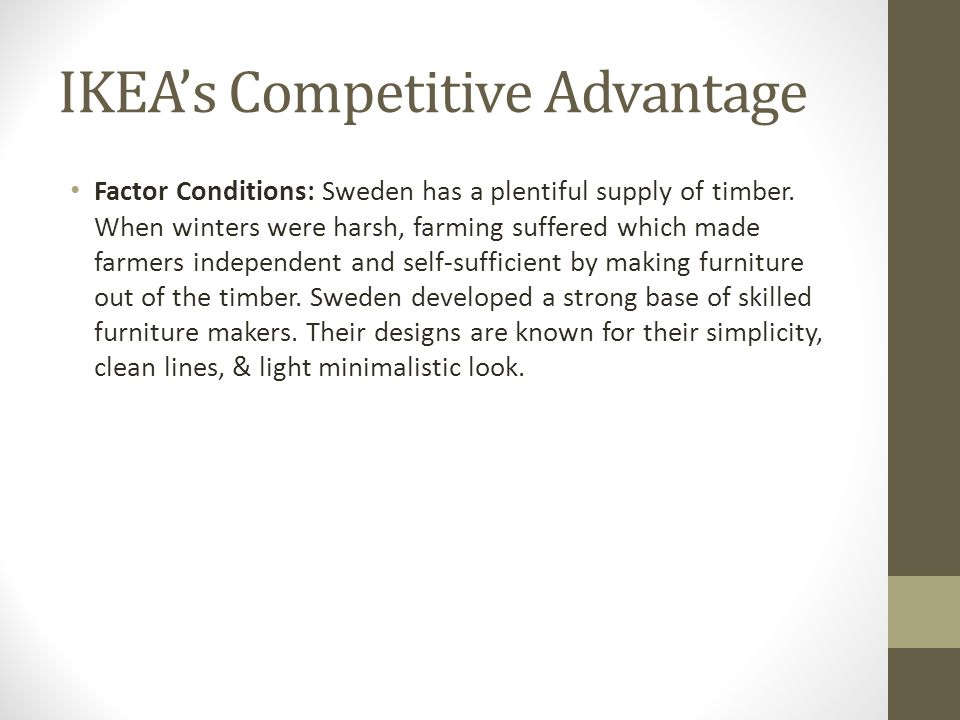IKEA's Competitive Advantage