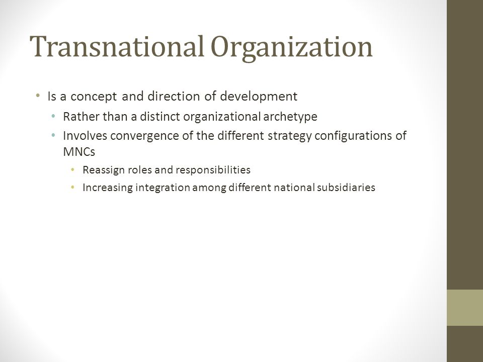 Transnational Organization