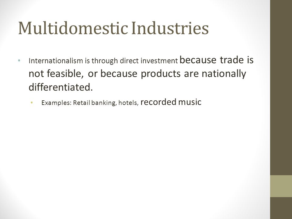 Multidomestic Industries