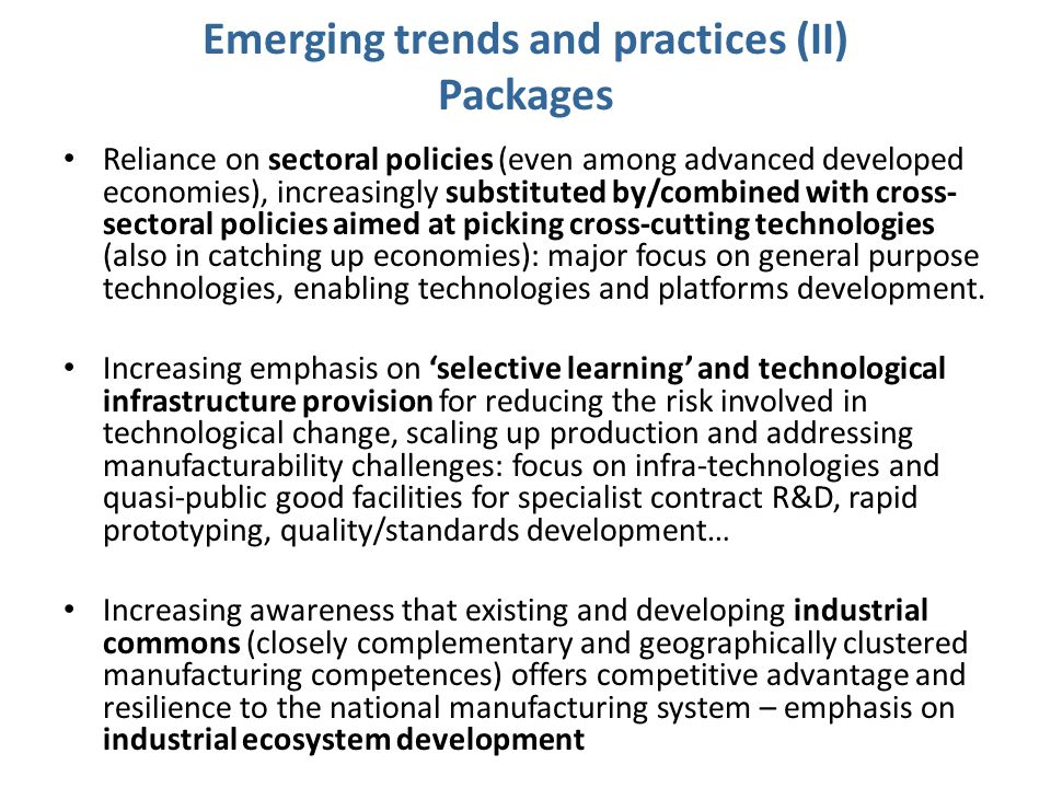 Emerging trends and practices (II) Packages
