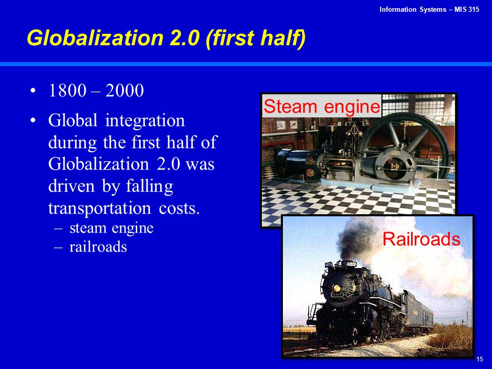 Globalization 2.0 (first half)