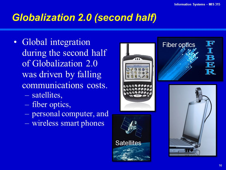 Globalization 2.0 (second half)