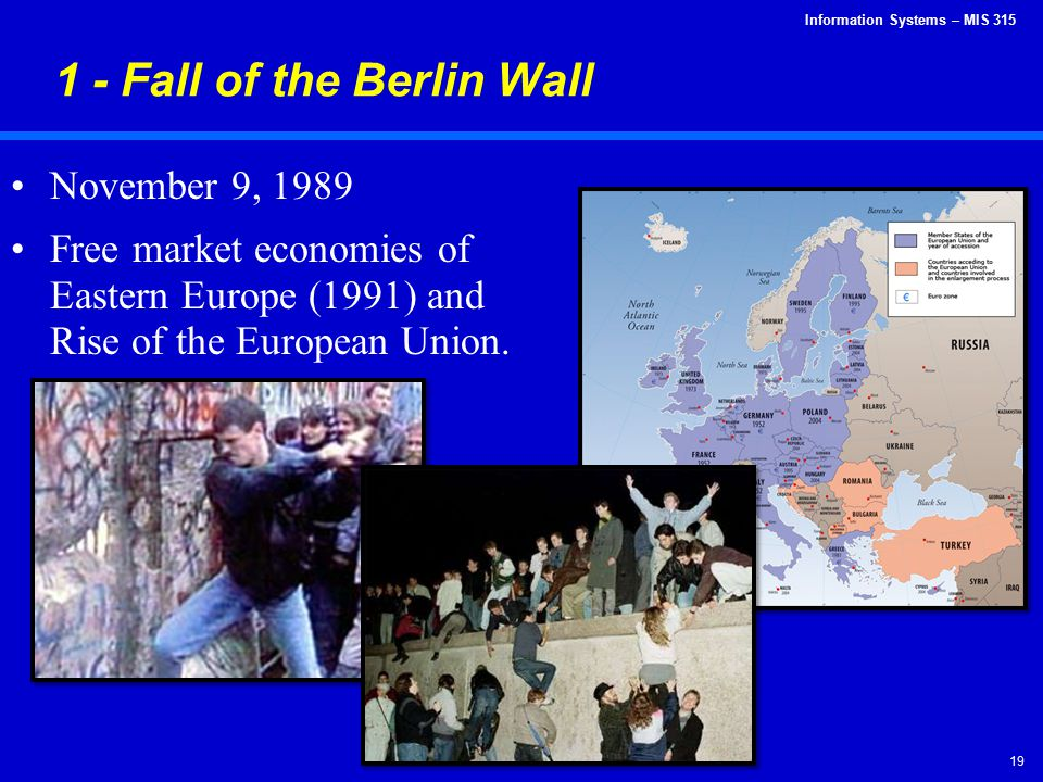 1 - Fall of the Berlin Wall