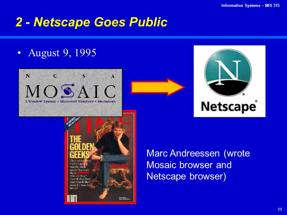 2 - Netscape Goes Public August 9, 1995
