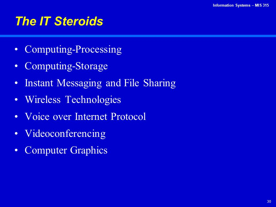 The IT Steroids Computing-Processing Computing-Storage