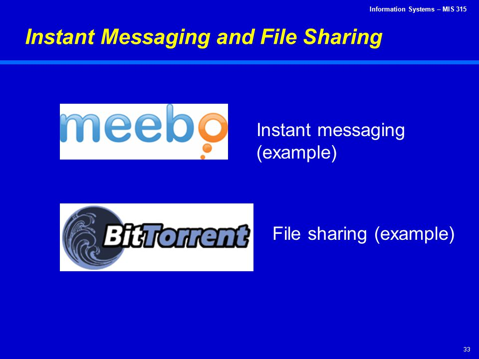 Instant Messaging and File Sharing