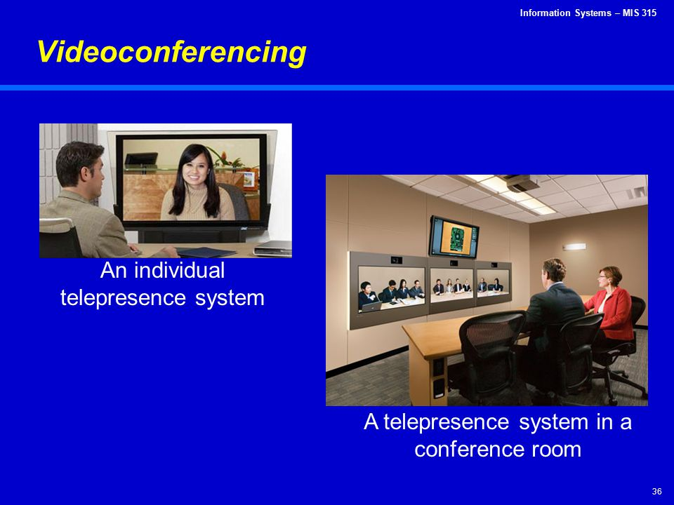 Videoconferencing An individual telepresence system
