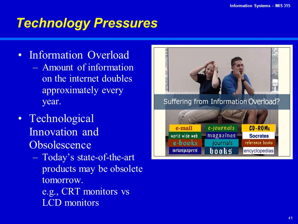 Technology Pressures Information Overload