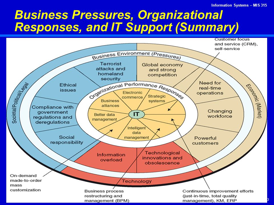 Business Pressures, Organizational Responses, and IT Support (Summary)