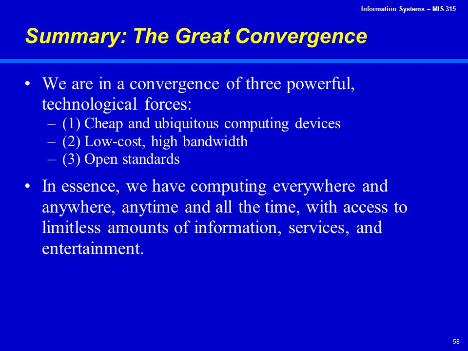 Summary: The Great Convergence
