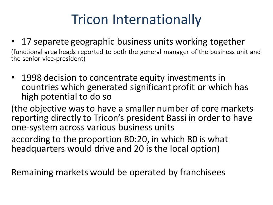 Tricon Internationally