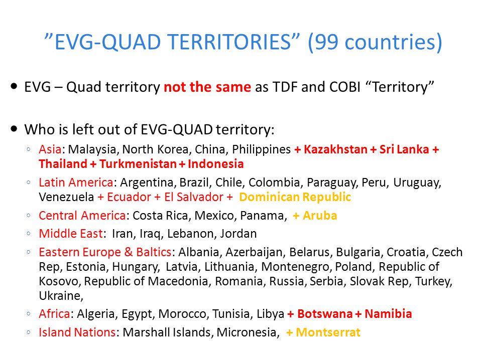 EVG-QUAD TERRITORIES (99 countries)
