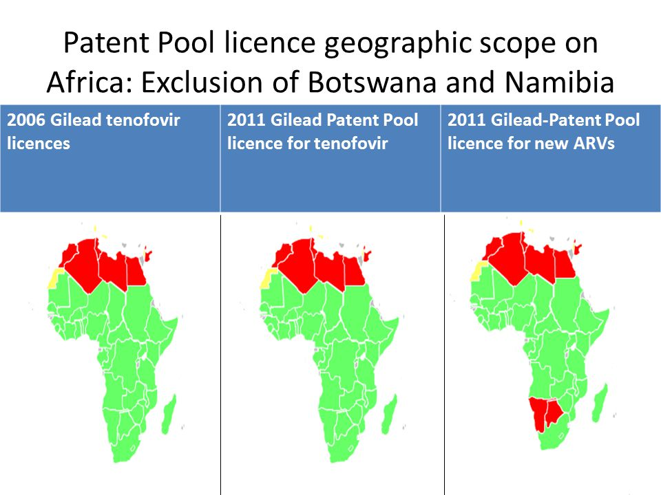 Patent Pool licence geographic scope on Africa: Exclusion of Botswana and Namibia