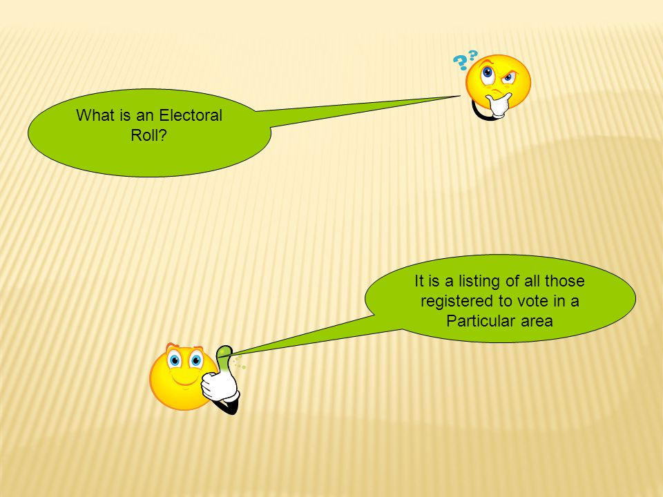 What is an Electoral Roll
