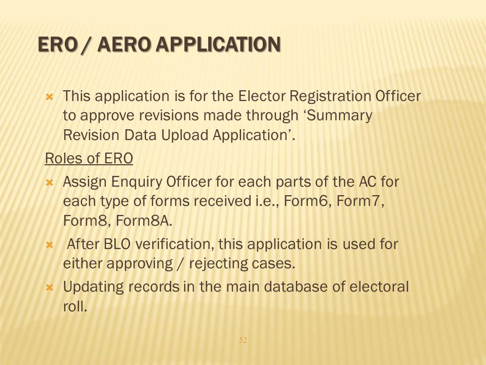 ERO / AERO Application