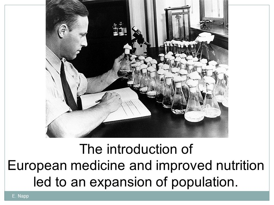 European medicine and improved nutrition