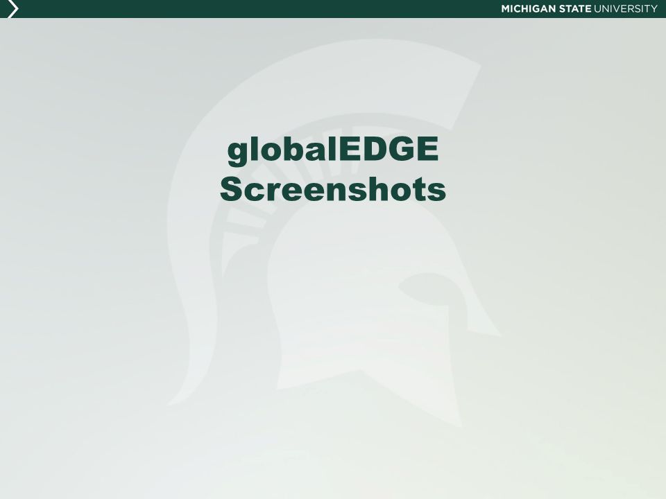 globalEDGE Screenshots