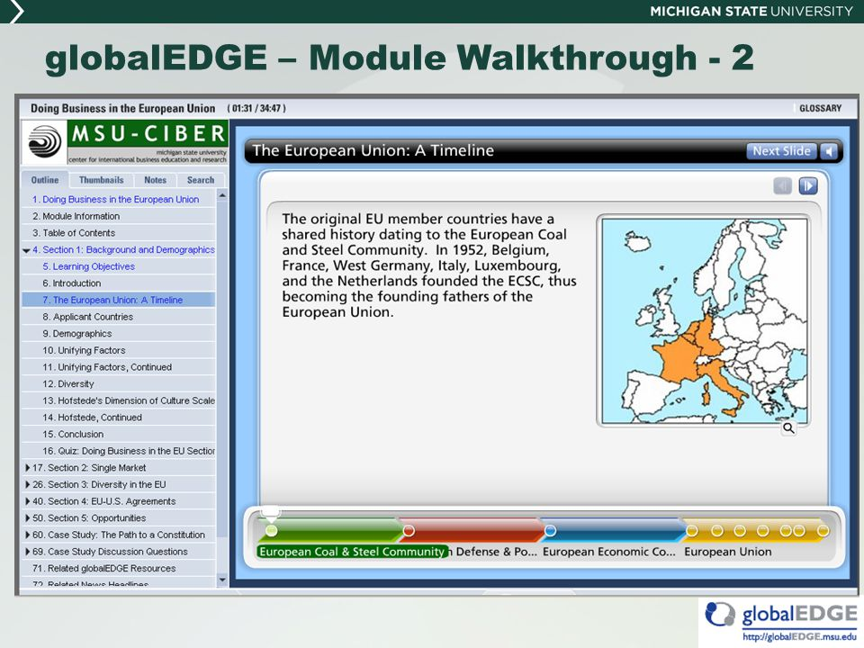 globalEDGE – Module Walkthrough - 2