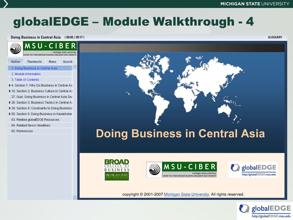 globalEDGE – Module Walkthrough - 4