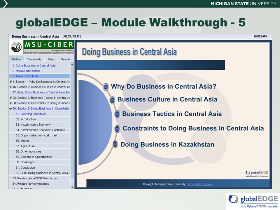 globalEDGE – Module Walkthrough - 5
