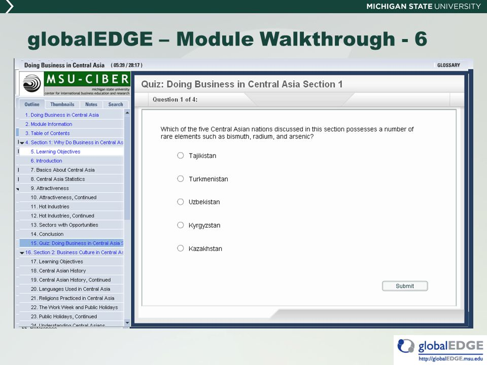 globalEDGE – Module Walkthrough - 6