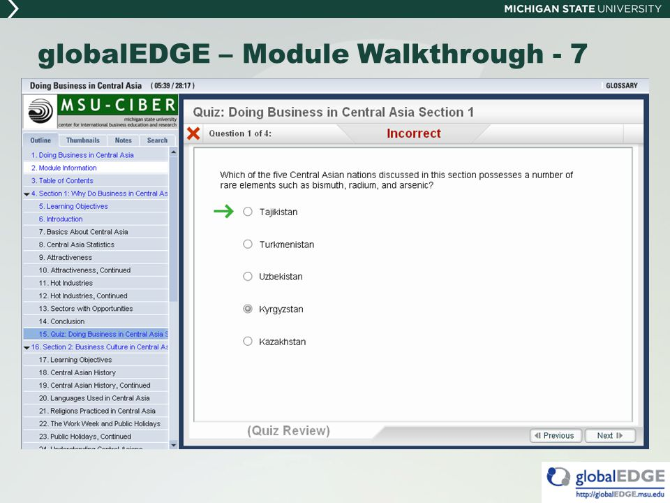 globalEDGE – Module Walkthrough - 7