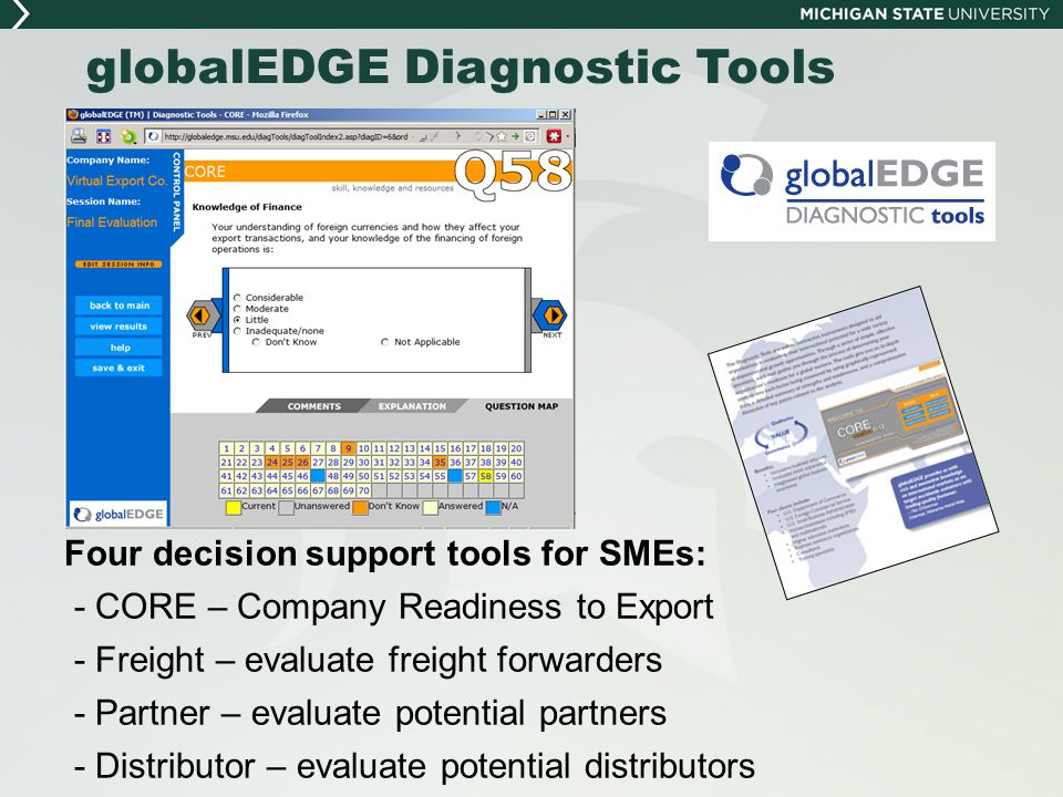 globalEDGE Diagnostic Tools