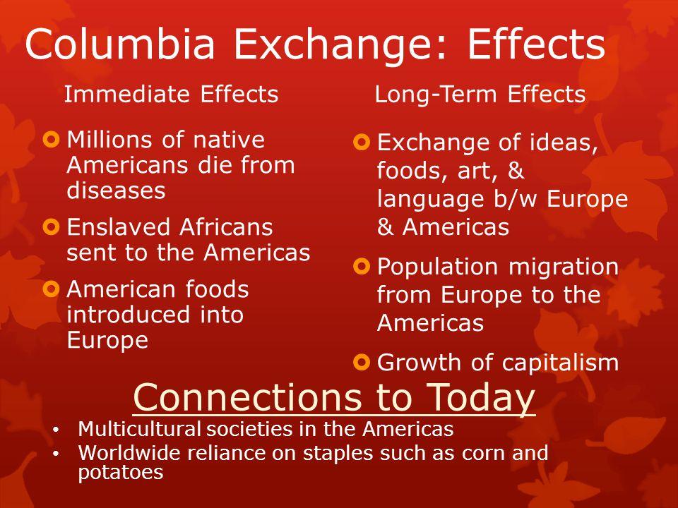 Columbia Exchange: Effects
