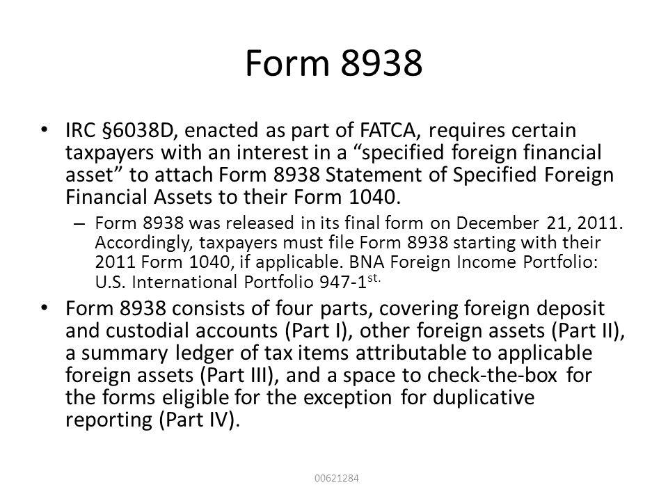 Form 8938