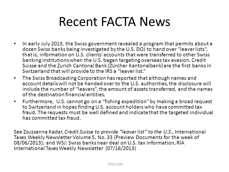 Recent FACTA News