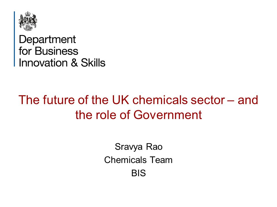 The future of the UK chemicals sector – and the role of Government