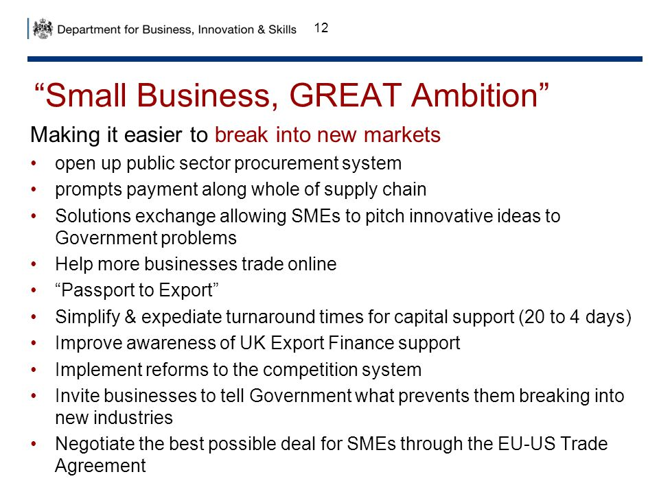 Small Business, GREAT Ambition