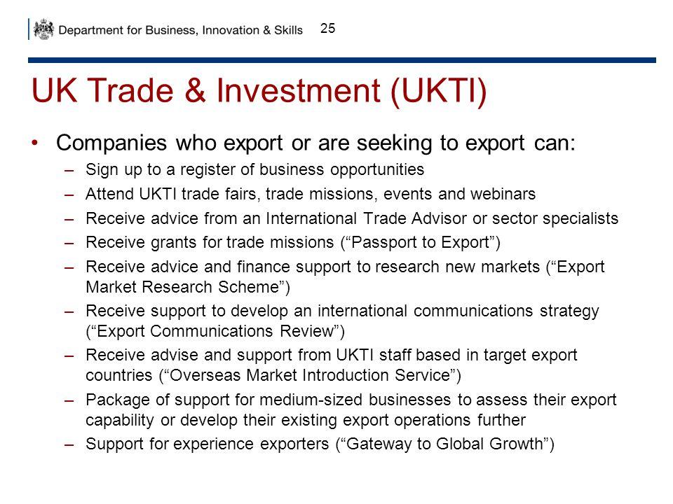 UK Trade & Investment (UKTI)