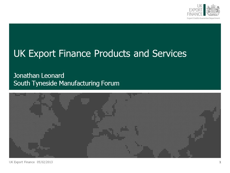 UK Export Finance Products and Services