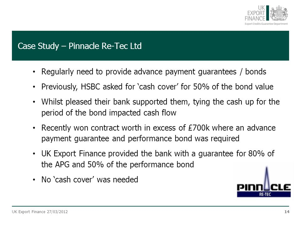 Case Study – Pinnacle Re-Tec Ltd