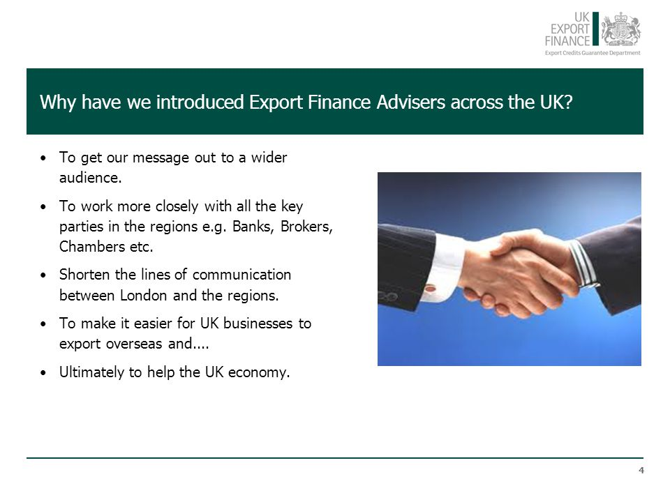 Why have we introduced Export Finance Advisers across the UK