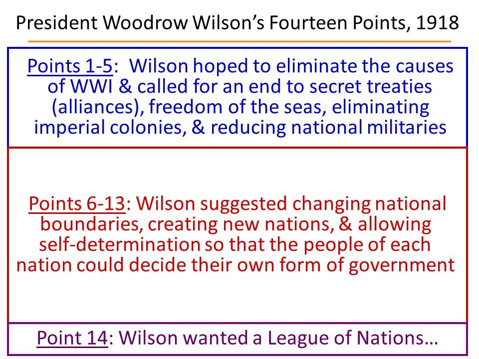 President Woodrow Wilson's Fourteen Points, 1918