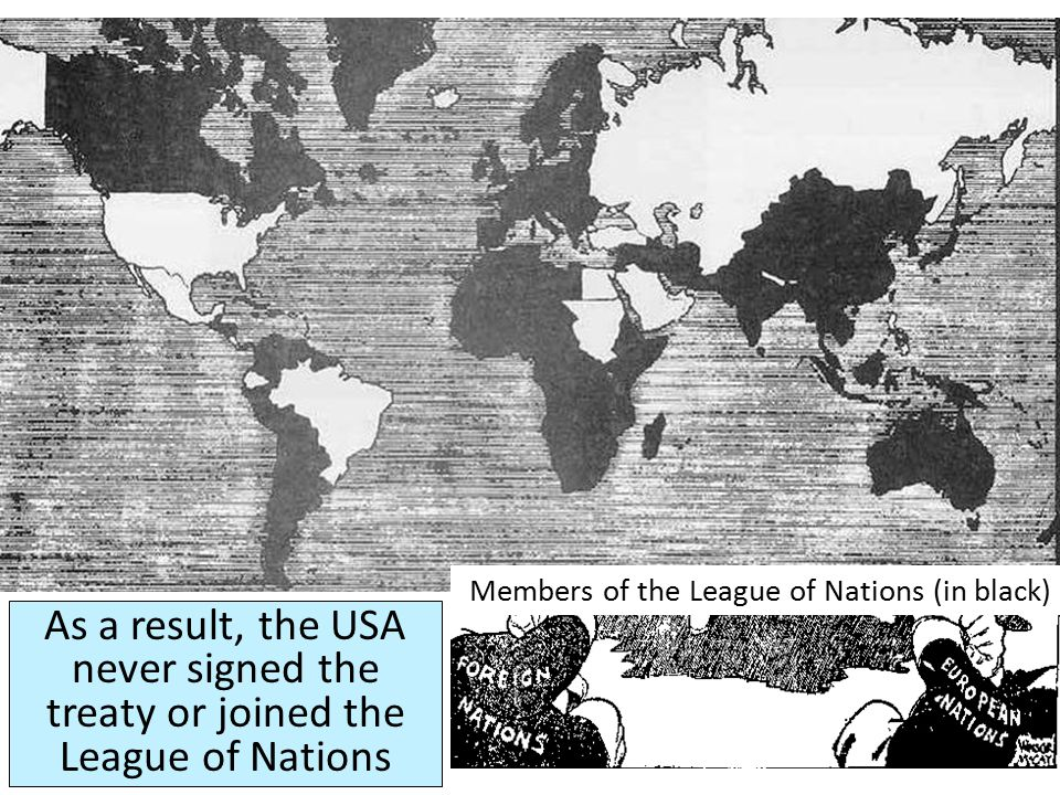 In the United States, reactions to the Treaty of Versailles were mixed