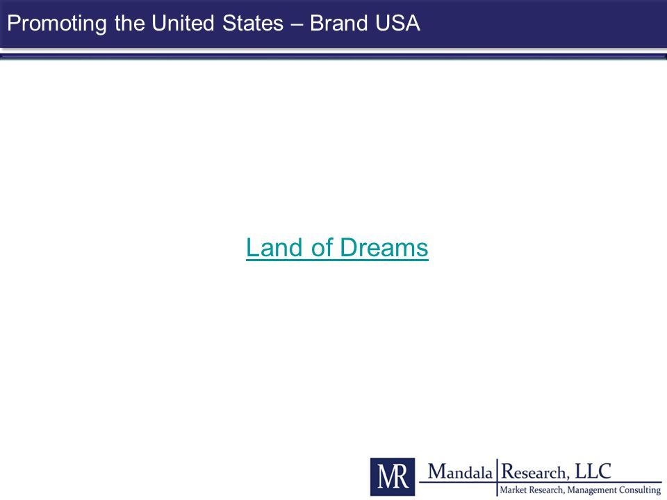 Promoting the United States – Brand USA