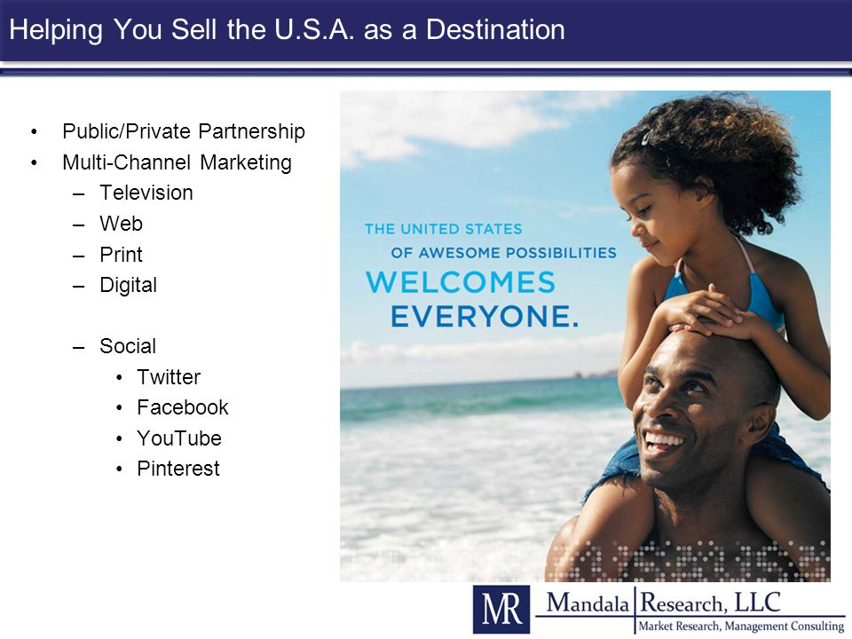 Helping You Sell the U.S.A. as a Destination