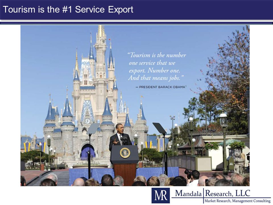 Tourism is the #1 Service Export