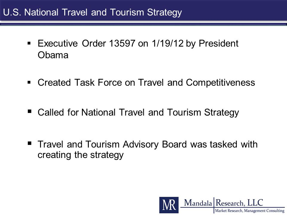 U.S. National Travel and Tourism Strategy