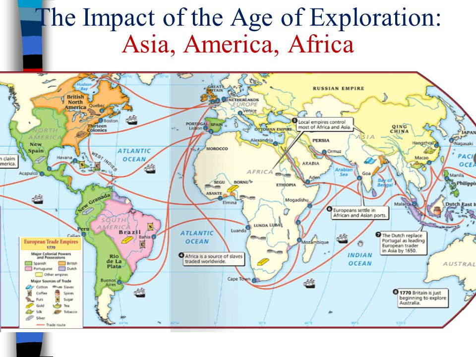 The Impact of the Age of Exploration: Asia, America, Africa