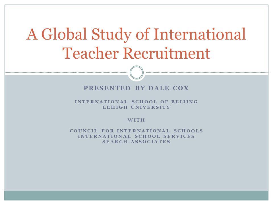 A Global Study of International Teacher Recruitment