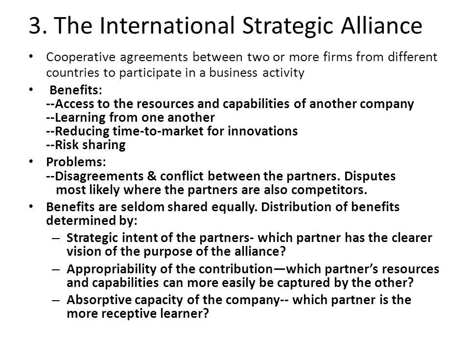 3. The International Strategic Alliance