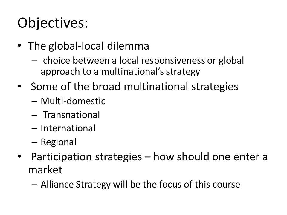 Objectives: The global-local dilemma
